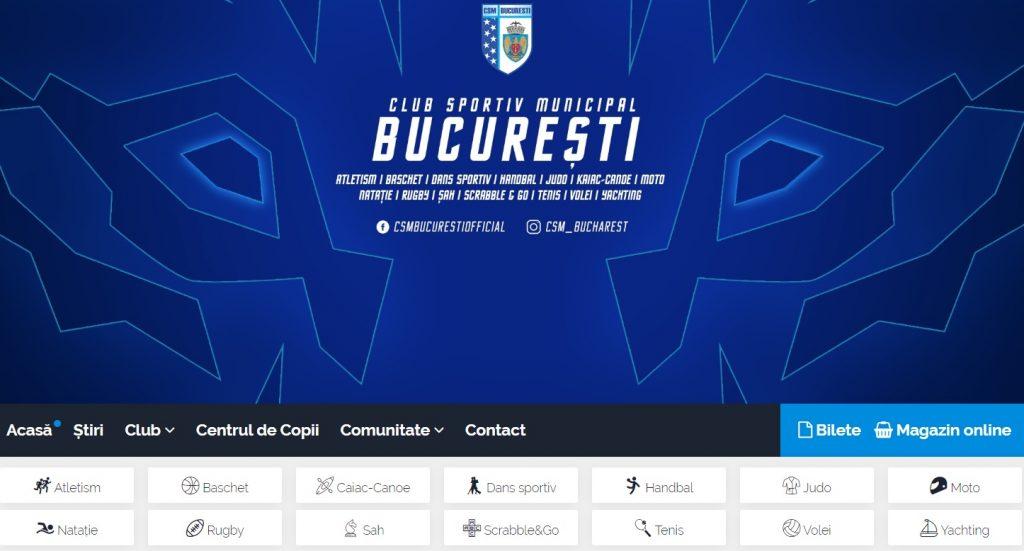 Secțiile sportive pe care le are CSM București în acest moment