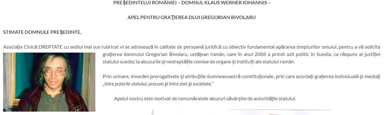 Gregorian Bivolaru, susținut de asociație