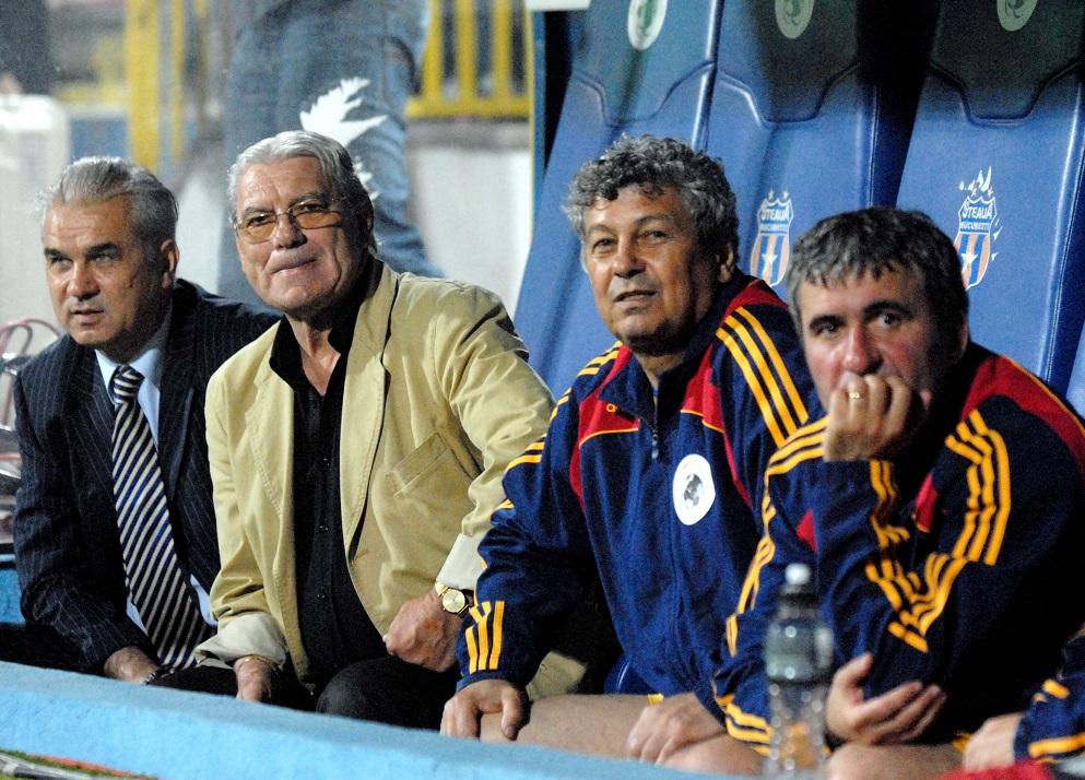 Anghel Iordanescu,Emerich Jenei,Mircea Lucescu si Gica Hagi.