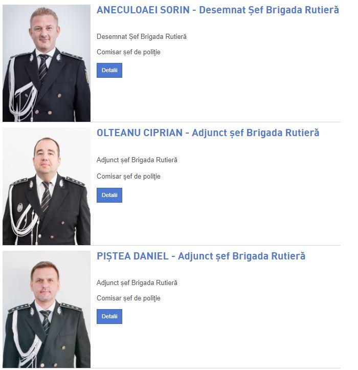Ierarhia actuală în Brigada Rutieră București