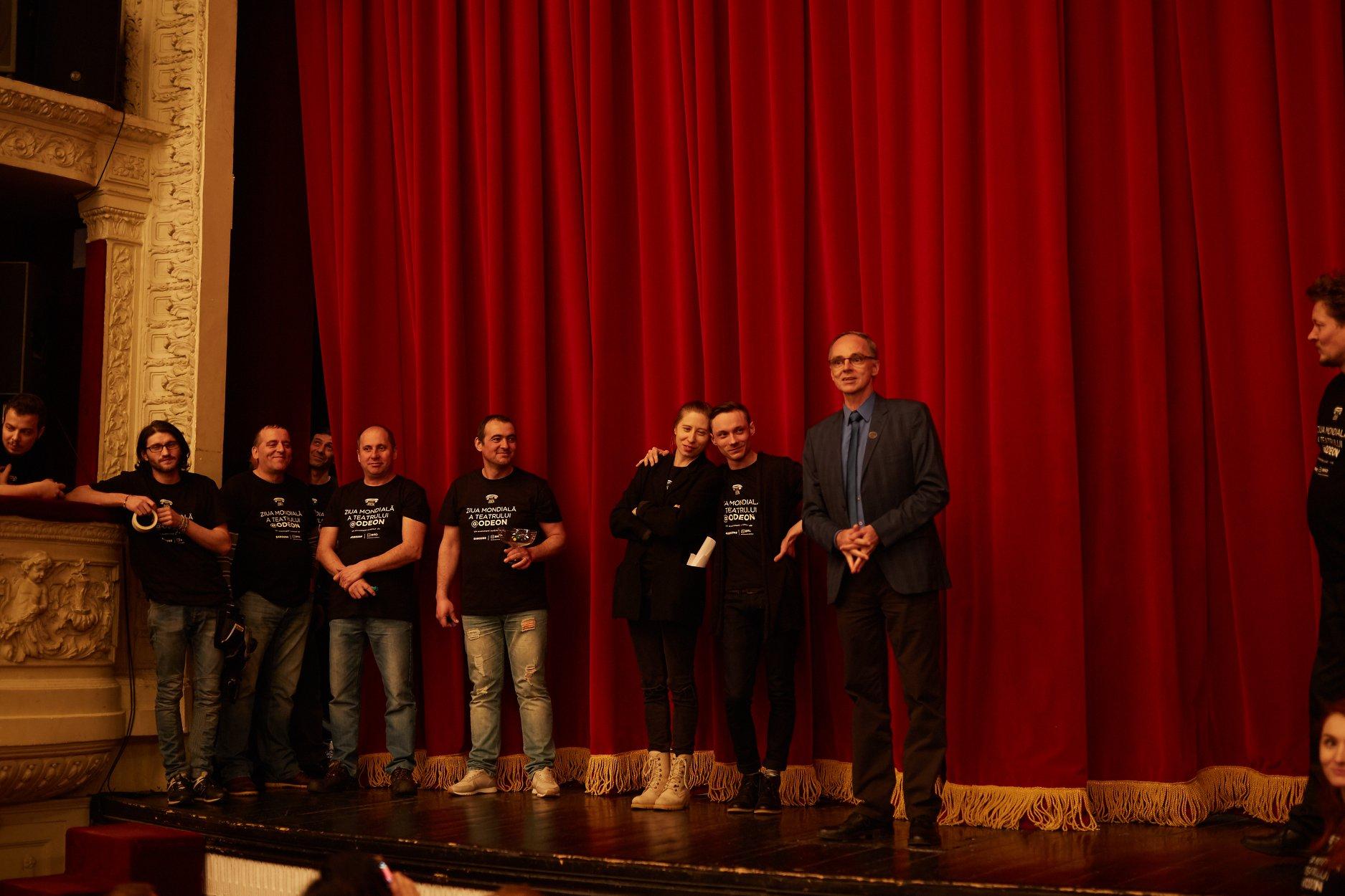 Cristian Șofron pe scena Teatrului Odeon