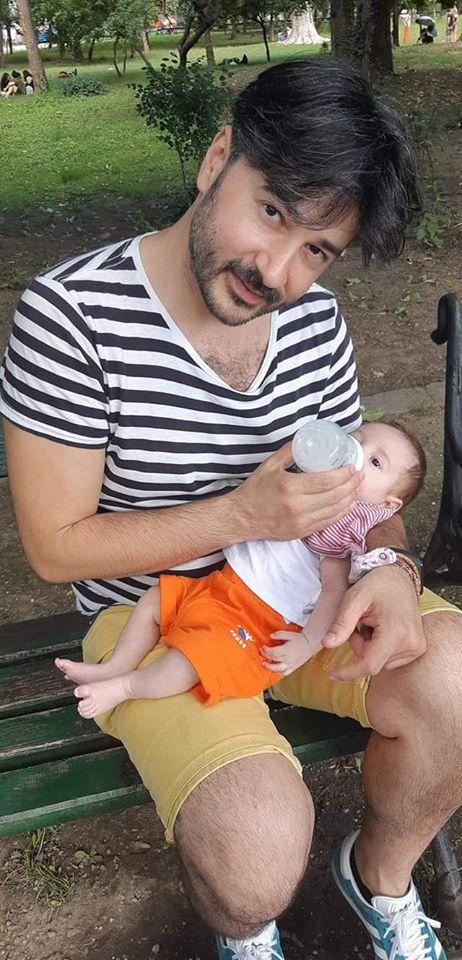 Dragoș Samoil este mândru nevoie mare de fiul lui. FOTO: Facebook