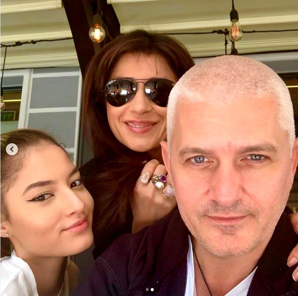 Virgil Ianțu, alături de fiica și soția lui