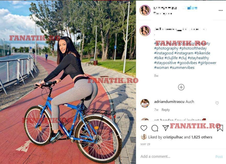 O dată la câteva zile, fotbalistul verifică statusul brunetei din Cluj
