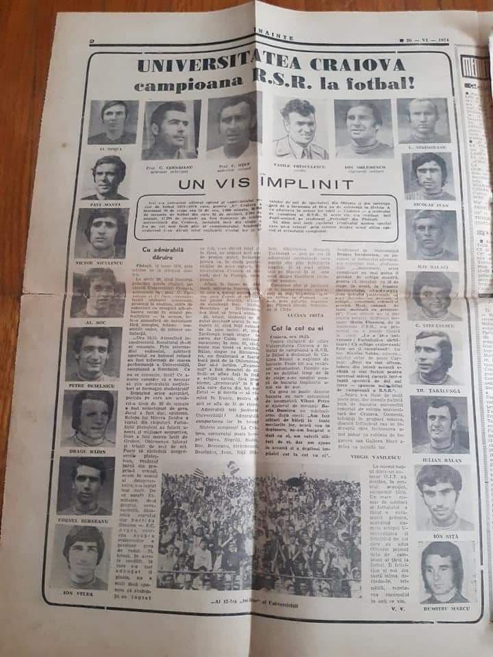 ziar 1974 universitatea craiova