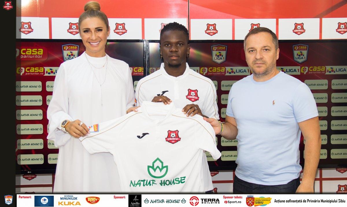 Edson Pires a semnat cu Hermannstadt. FOTO: facebook