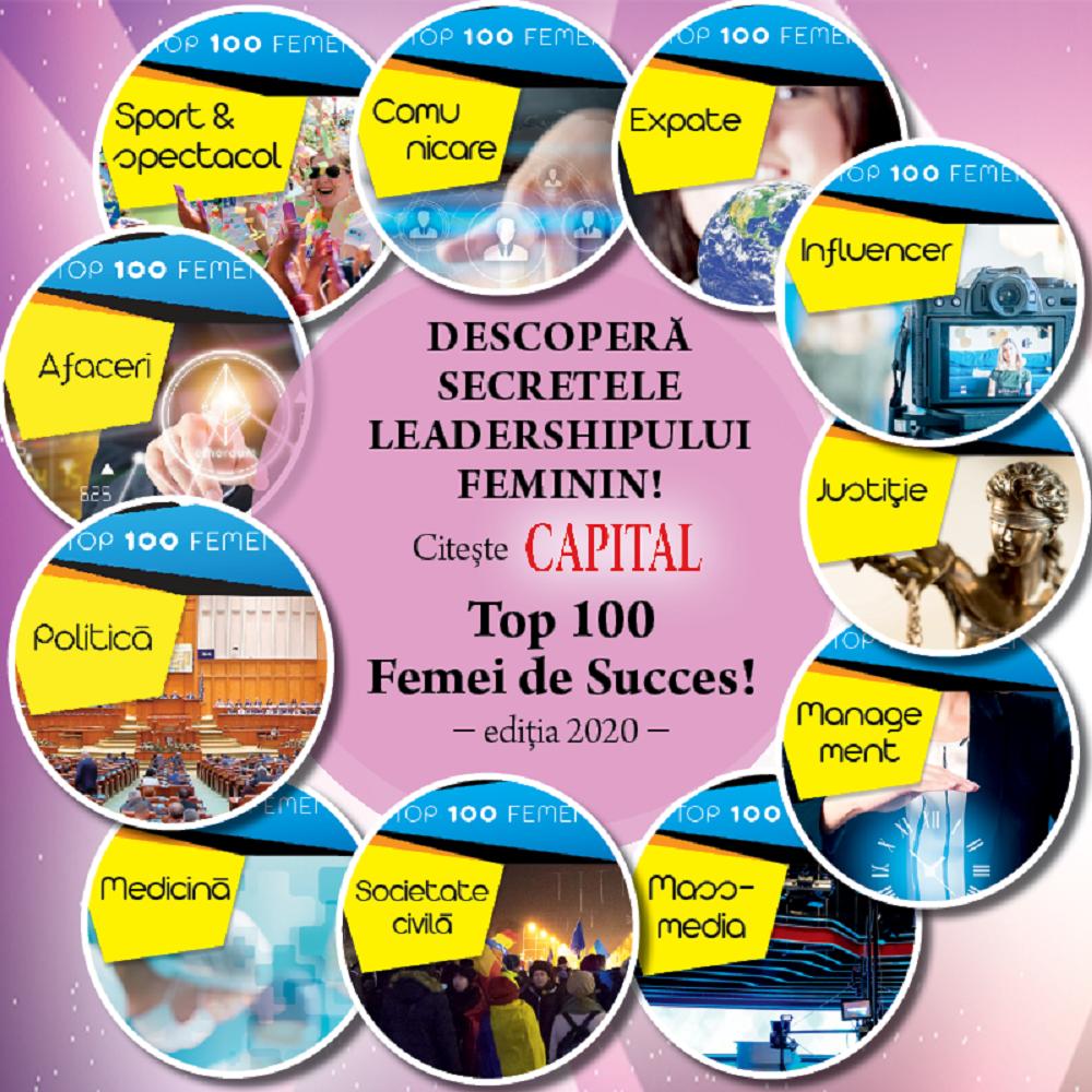 Capital Top 100 Femei de Succes. Surprize majore în clasamentul din acest an. Adelina Pestriţu, printre câştigătoare