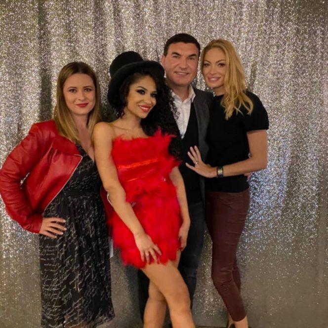 Ameri Nasrin, alături de Cristi Borcea, Valentina Pelinel și o amică. Sursa foto: Instagram
