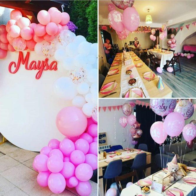Decorul petrecerii pentru Maysa