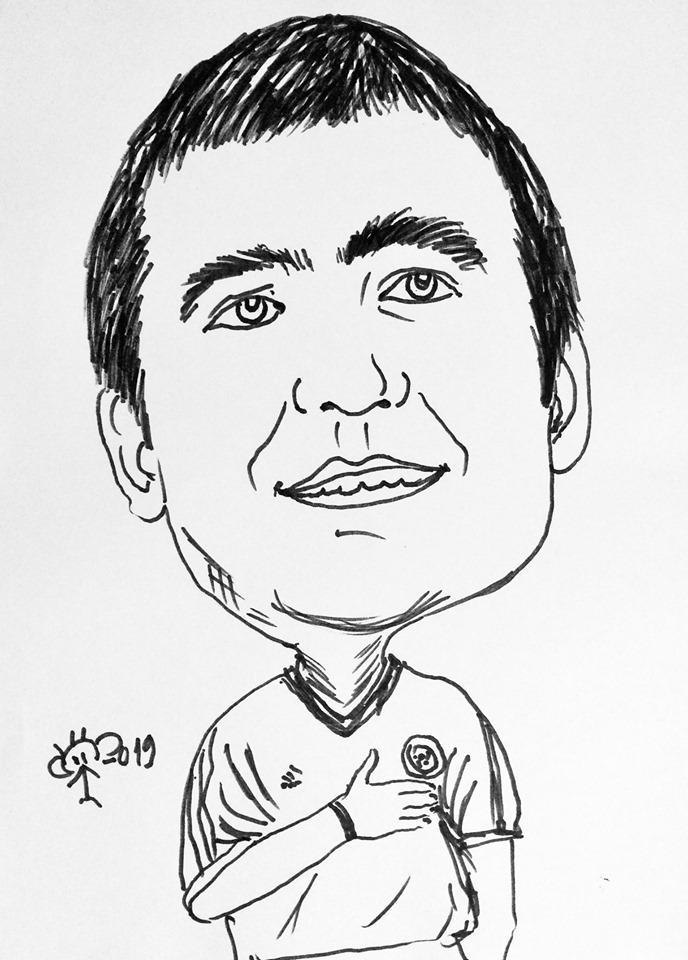 Caricatură Gheorghe Hagi