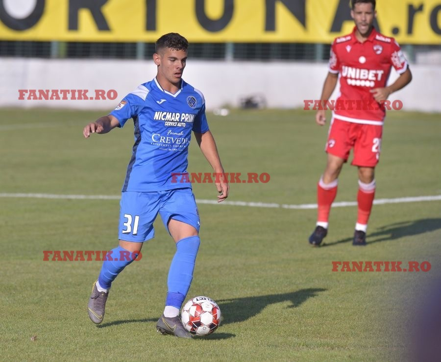 Marius Ciobanu Vanghele la debutul in Liga 1, Academica Clinceni - Dinamo 1-3