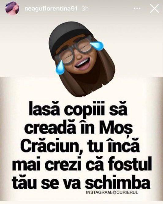 Florentina, iubita lui Livian, a reacționat legat de vizita Biancăi la Cluj. Sursa foto: Instagram