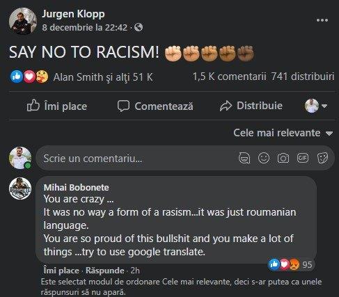 Bobiță din Las Fierbinți Jurgen Klopp scandal Colțescu
