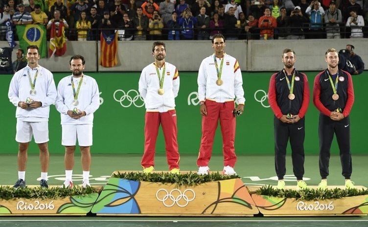 Horia Tecău și Florin Mergea pe podiumul olimpic