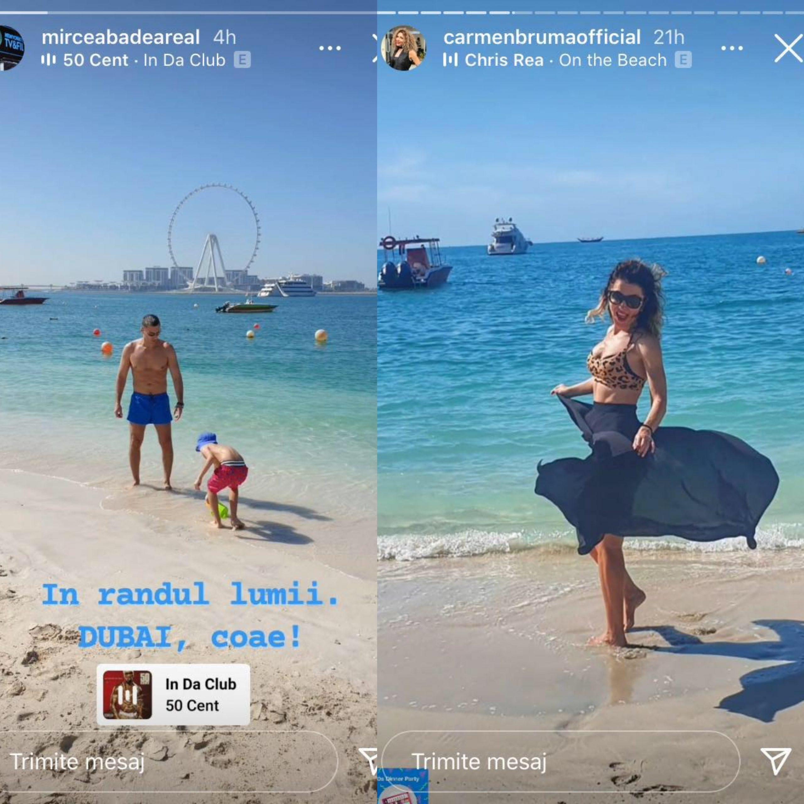Mircea Badea și Carmen Brumă au plecat în vacanță, în Dubai