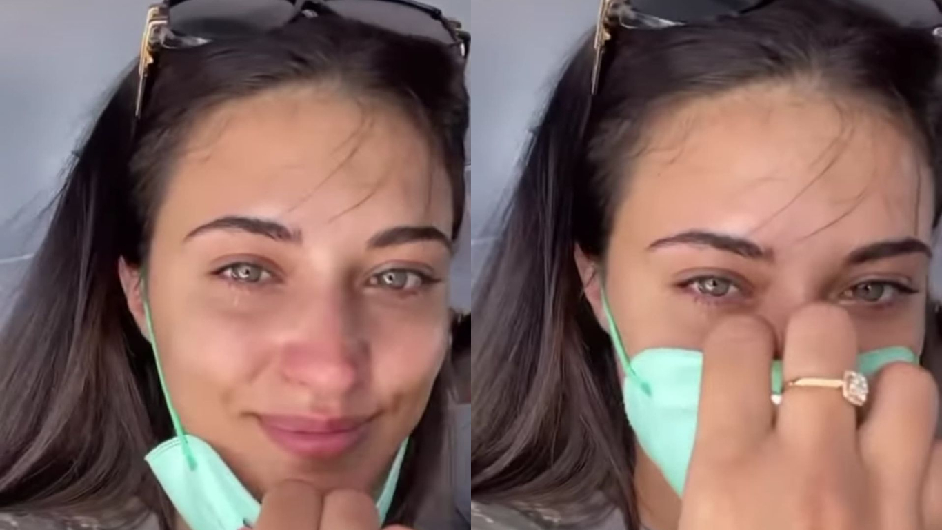 Antonia, cu lacrimi în ochi în vacanță