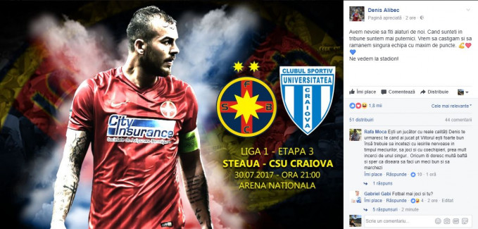 Steaua - Craiova LIVE VIDEO Liga 1. VEZI meciul ONLINE