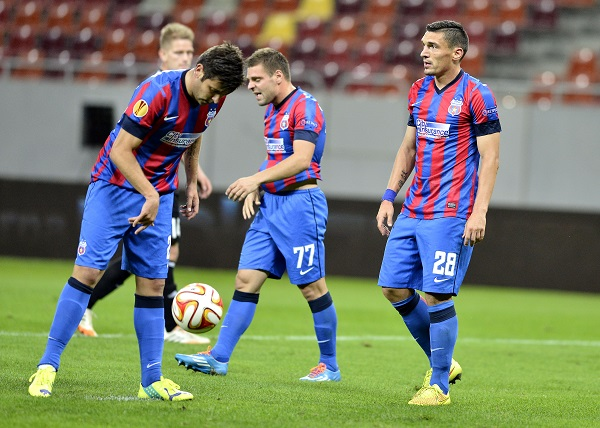 FOTBAL:STEAUA BUCURESTI-BK AALBORG, LIGA EUROPA (18.09.2014)