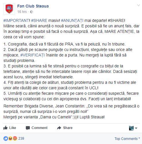 fan club steaua