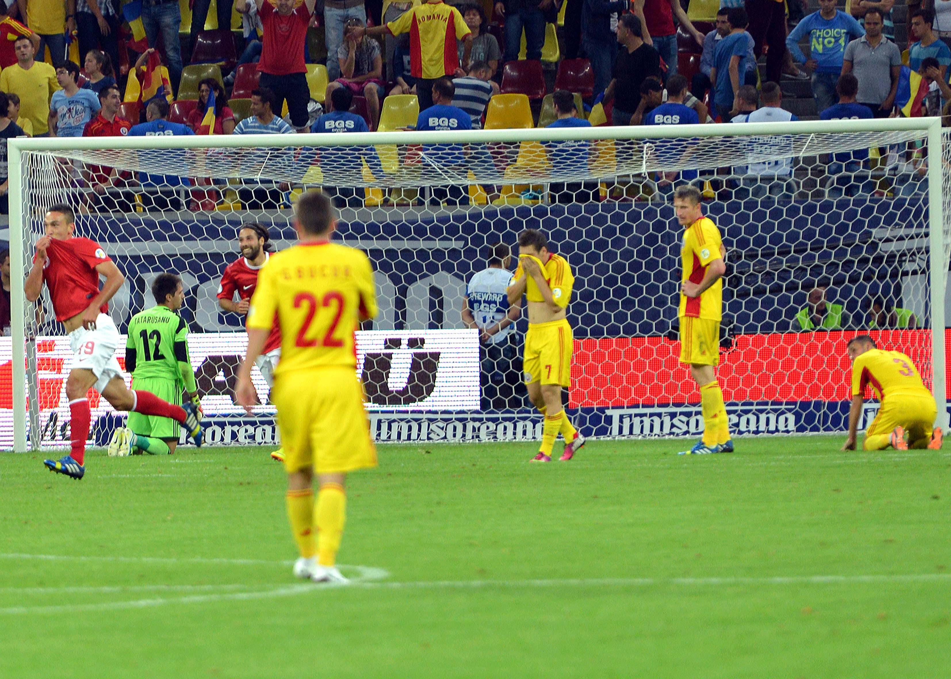 2.FOTBAL:ROMANIA-TURCIA 0-2,PRELIMINARIILE CM 2014 (10.09.2013)