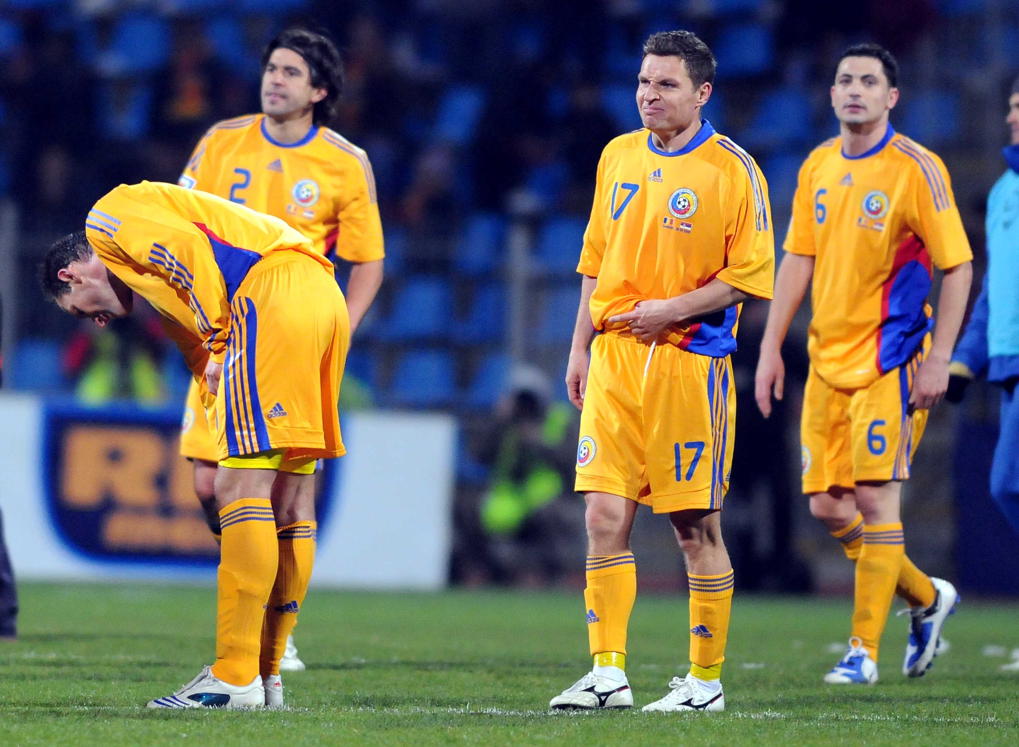 FOTBAL:ROMANIA-SERBIA 2-3,PRELIMINARIILE C.M 2010 (28.03.2009)